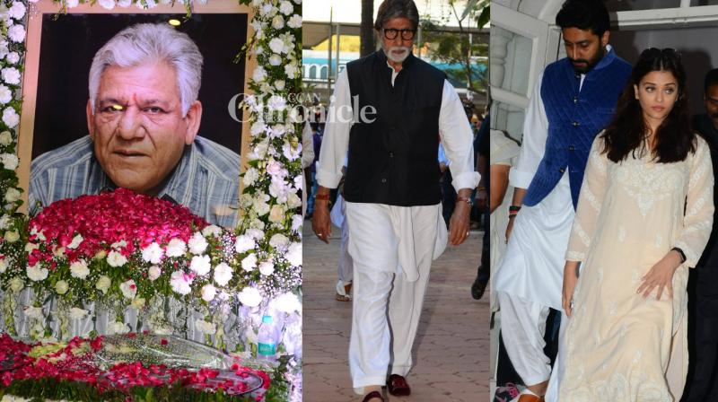 Bollywood celebrities were seen arriving for two prayer meets organised for veteran actor Om Puri who passed away recently. (Photo: Viral Bhayani)