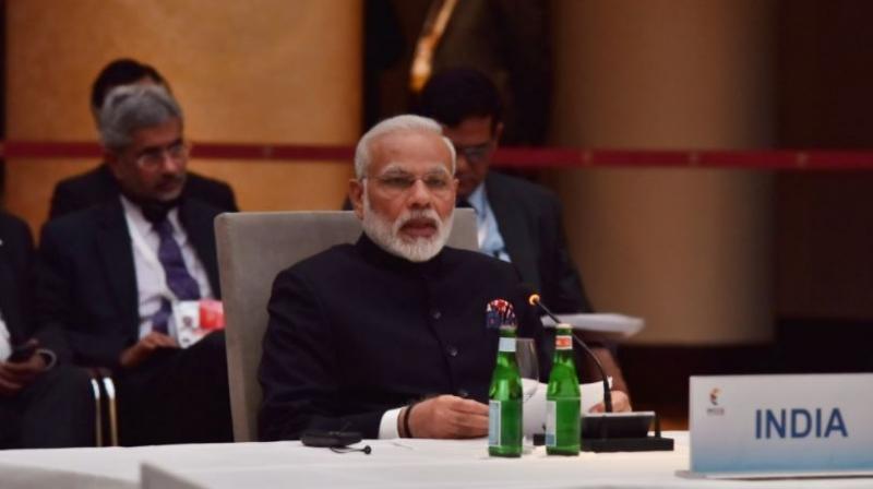 Prime Minister Narendra Modi speaks at the G-20 Summit in Hamburg Germany