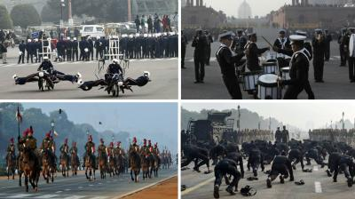 Preparations for one of the nation's most decorated celebrations, the Republic Day, are underway as different contingents rehearse in full swing at New Delhi.