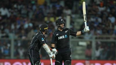 Ross Taylor celebrates his half century.  (Photo: BCCI)