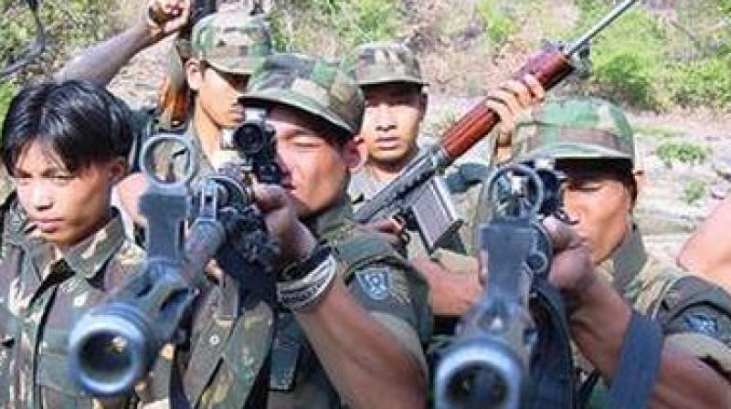 Khaplang faction of NSCN, which has been leading a joint forum of northeast militant outfits, has not been the part of the joint call. In picture: Ulfa militants. (Photo: PTI/File)
