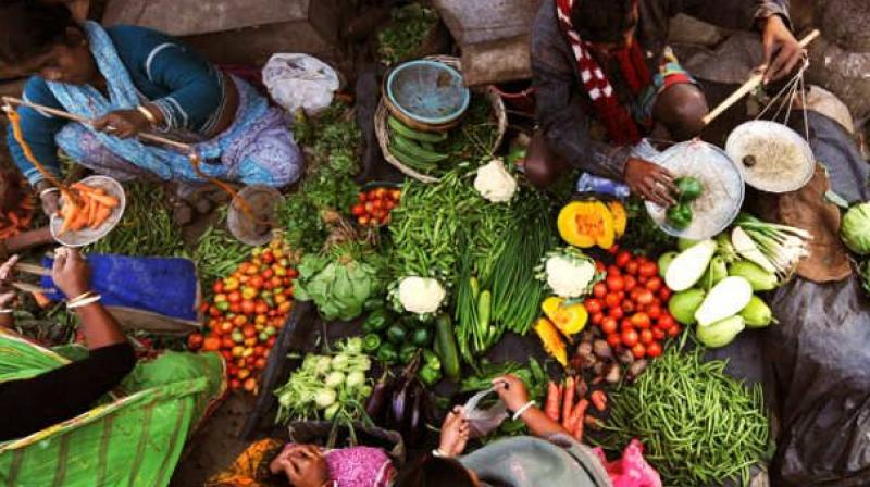 Consumer inflation in August edged lower to 3.28 per cent in the month of September. (File Photo)