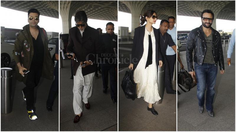 Bollywood A-listers, with thier busy schedules and hectic lifestyles have been virtually living out of their suitcases, off the airports. (Photo: Viral Bhayani)