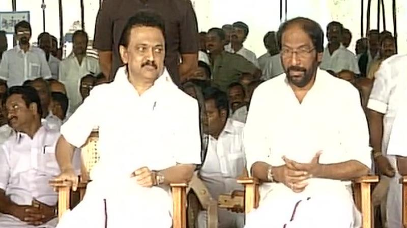 DMK on hunger strike; no-confidence motion against Speaker