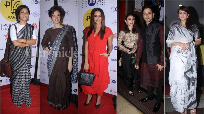 Konkona Sen Sharma's directorial debut 'A Death in the Gunj' saw its Indian premiere at the 18th MAMI Mumbai International Film Festival. (Photo: Viral Bhayani)