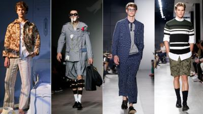 New York Men's Fashion Week sees Snyder, Bode and Kane showcase designs ranging from China town to eclectic tones and stripes (Photo: AP)