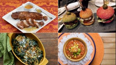 From multi-colored burgers, to tender crusty pork tenderloin, kale spaghetti and gazpaccho soup, the beauty of food is everlasting (Photo: AP)