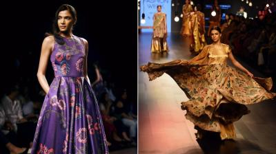 From etching Indian motifs on silk to crafting myriad designs on six yards, LFW day 2 and 3 see Indian aesthetics rule the ramp. (Photo: PTI/AP)