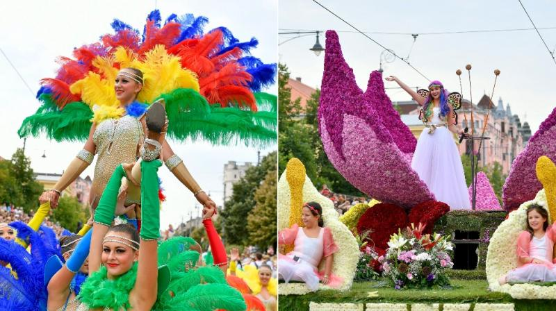 Debrecen Flower Festival is one of Hungary's major national holidays when they commemorate foundation of state and founder King St Stephen. (Photo: AP)