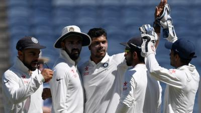 Umesh Yavad, who scalped four wickets on day one of the opening Test against Australia, will like to complete a five-wicket haul. (Photo: AFP)