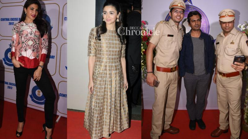 Bollywood stars made an appearance at the Central Excise Day celebrations that were held in Mumbai on Friday. (Photo: Viral Bhayani)