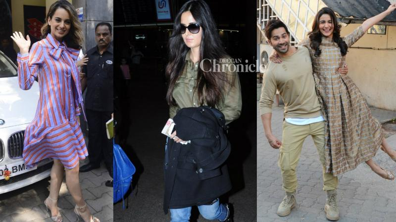 Bollywood stars were spotted at various locations in Mumbai on Friday. (Photo: Viral Bhayani)