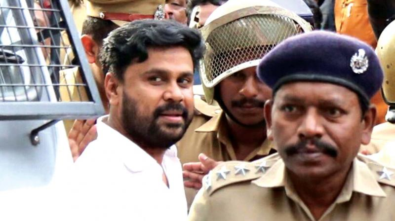 Dileep being taken back to Aluva sub jail after Angamaly judicial first class magistrate court rejected his bail plea on Saturday