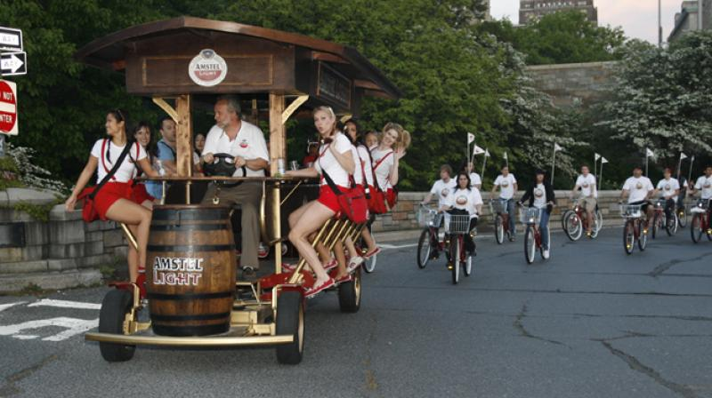 The court agreed with the city that the beer bikes disrupt public order and block traffic in narrow streets. (Photo: AFP)