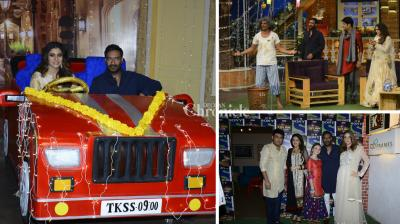 Ajay Devgn, Kajol and the team of their upcoming film 'Shivaay' promoted the film on the sets of 'The Kapil Sharma Show'. (Photo: Viral Bhayani)