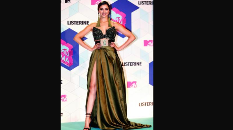 Deepika at the MTV Europe Music Awards 2016.
