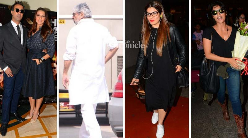 Sanjay Leela Bhansali and several other stars were spotted at different places in Mumbai on Tuesday. (Photo: Viral Bhayani)