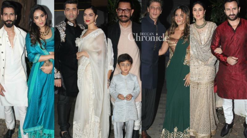 Aamir Khan hosted a grand party on the occasion of Diwali in Mumbai on Thursday which was attended by the who's who of Bollywood.