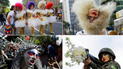Thousands of participants march during the annual Gay Pride Parade in Sao Paulo, Brazil, Sunday, June 18, 2017. (Photo: AP)