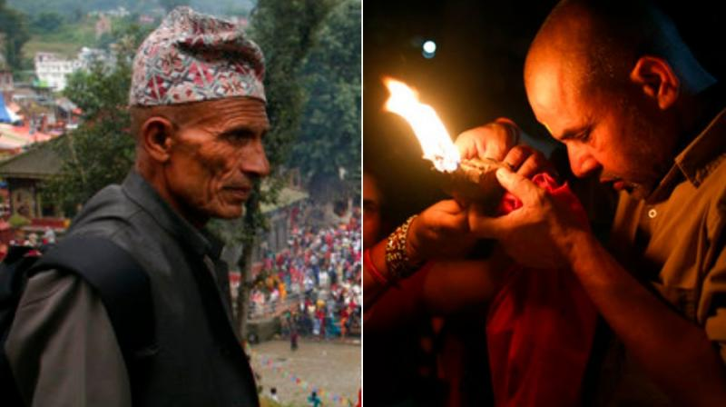 Kuse Aunsi is a festival of Nepal where fathers, living or dead, are honoured.  (Photo: AP)