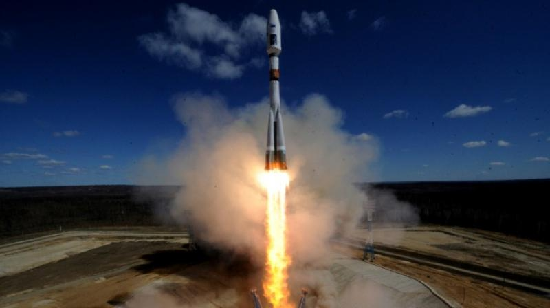 A Russian Soyuz 2-1A rocket -- like the one seen in this file photo taken on April 28, 2016 -- launched 73 satellites into orbit on Friday. (Photo: AFP)