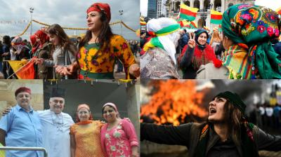 People from around the world in India, Turkey and Germany gather in their neighbourhoods for Navroz - the celebrations of the New Year with costumes, song, dance and family. (Photo: AP/AFP/PTI)