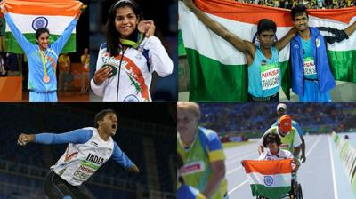India won 6 medals across Rio Olympics and Rio Paralympics after Mariyappan Thangavelu, Devendra Jhajharia, PV Sindhu, Deepa Malik, Sakshi Malik and Varun Singh Bhati made the country proud with their solid show. (Photo: AP / AFP / PTI)