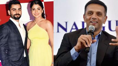 Anushka Sharma went up to Rahul Dravid to have his signature for her brother who was a big fan of the Indian cricketer. (Photo: AFP / PTI)