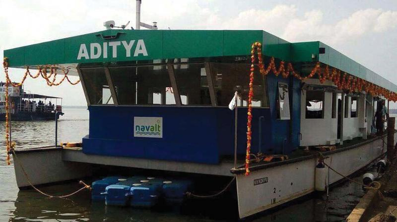 Image result for india's first solar powered boat launches