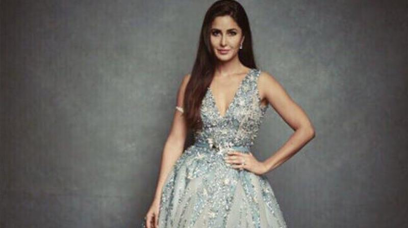 Katrina Kaif sizzled in an embellished grey flowy gown at the awards show held in New York. (Instagram/katrinakaif)
