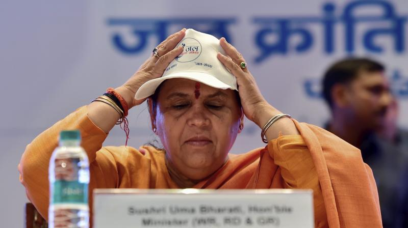 Union Minister for Water Resources, River Development and Ganga Rejuvenation Uma Bharti. (Photo: PTI)