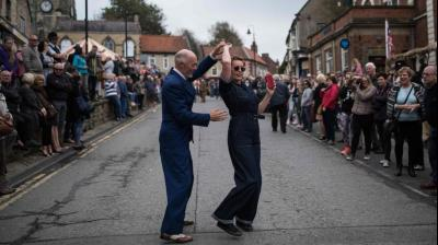 2017 marked the 25th anniversary of the Railway in Wartime event in Pickering, northern England.  (Photo: AFP)