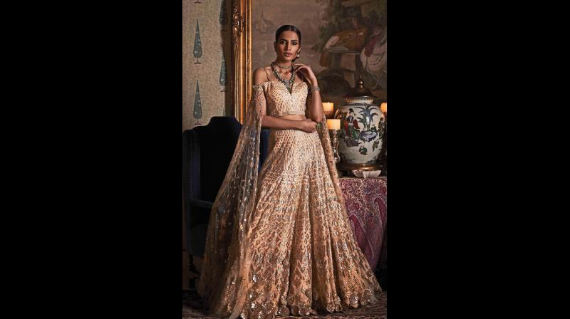 Take a cue from couture giants (read Ralph Russo, Chanel, Elie Saab, Tarun Tahiliani, etc.) who are vouching for a new kind of sartorial dichotomy — subtle sparkle.