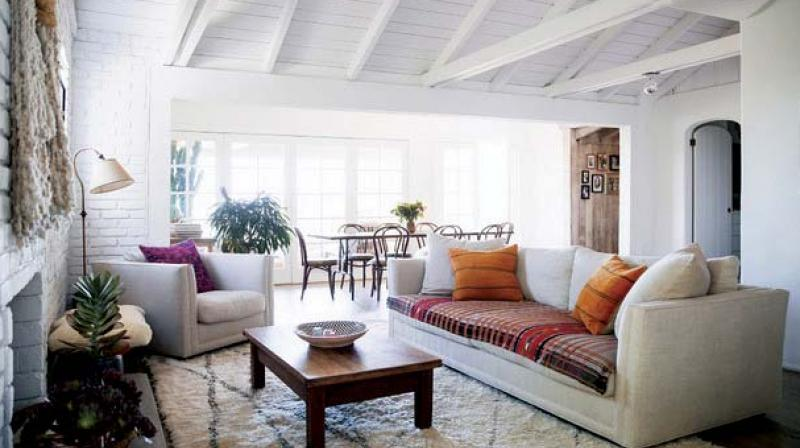 Rugs, shrugs, colourful cushions all go lengths  in defining a space