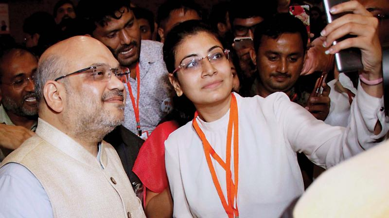 BJP President Amit Shah Meets Captains of Industry at FICCI