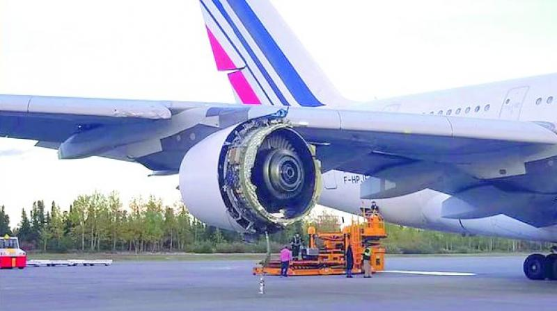 Air France plane forced to land in Canada with terrifying engine damage