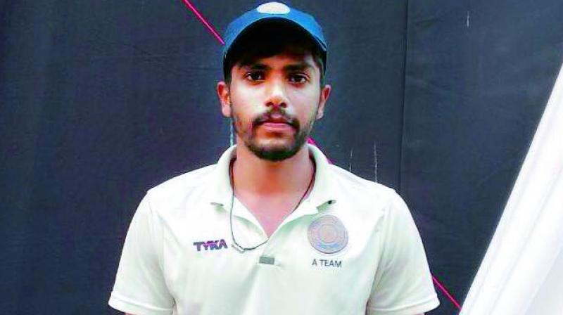 Hyderabad allrounder T. Ravi Teja took 5 for 49 and scored 70 runs in his Ranji Trophy debut match against Railways being played in New Delhi.