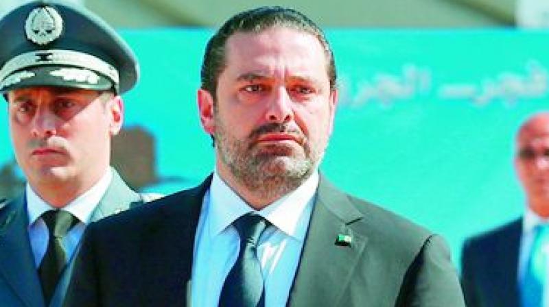 Lebanon's prime minister Saad Hariri