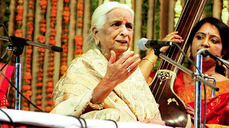 Girija Devi at one of her music concert