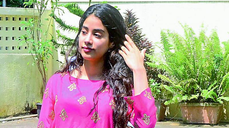 It looks like Jhanvi's debut project will hit the screens before Sara's.