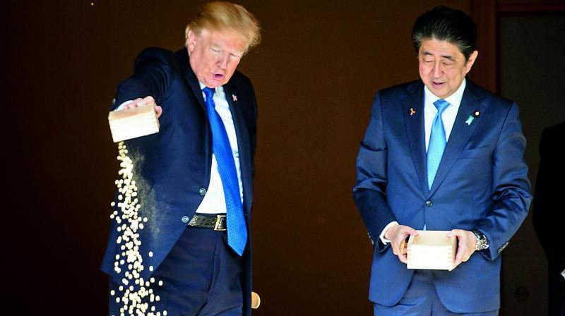 No patience on north korea donald trump for Trump feeding fish