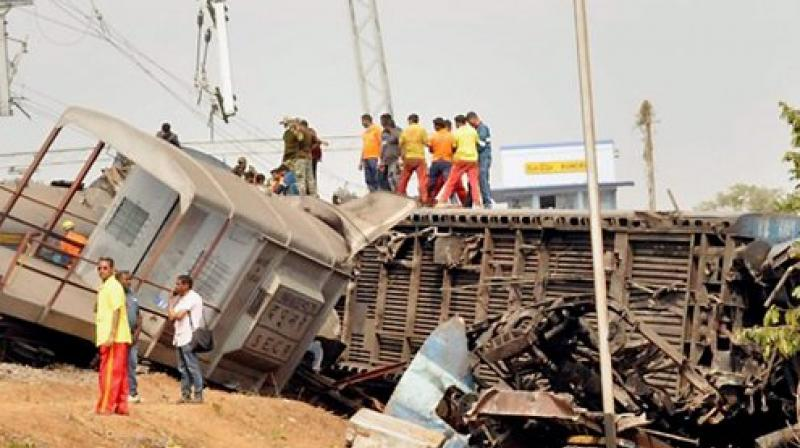 NIA, CID Teams Visit Hirakhand Express Accident Site to probe alleged sabotage