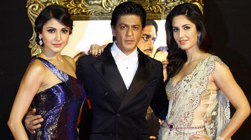 SRK is co-starring with Katrina and Anushka in Anand L. Rai's film.