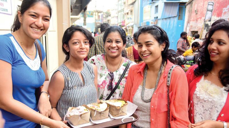 Young Bengalureans ready to dig into the famous Donne Biriyani