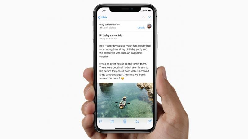 Apple iPhone X's gesture-based navigation system makes efficient utilisation of screen space.