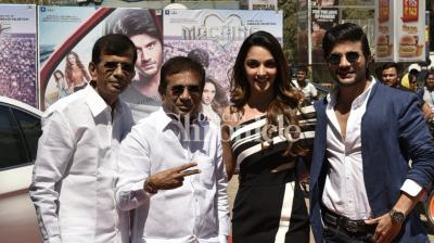 The trailer of Abbas-Mustan's 'Machine', which marks the debut of Abbas Burmawalla's son Mustafa,  was released on Thursday in Mumbai. (Photo: Viral Bhayani)
