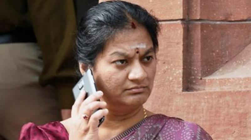 Expelled AIADMK MP Sasikala Pushpa. (Photo: File)
