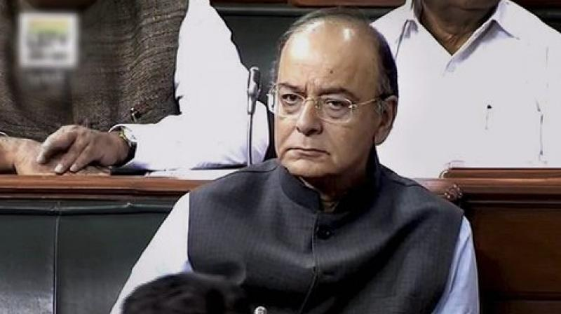 Jaitley briefs MPs about GST bills introduced in Lok Sabha