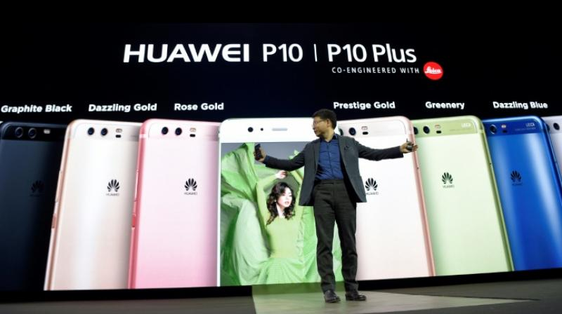 Huawei unveiled the P10 and larger P10 Plus at the annual Mobile World Congress in the Spanish city of Barcelona on Sunday. (Photo: AFP)
