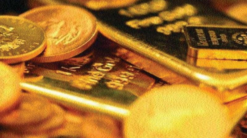 Gold prices in global market retreated as much as 1.12 per cent to USD 1,246.80 an ounce in New York.